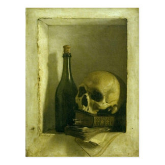Postcard With Skull Painting