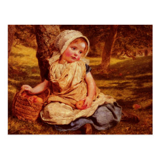 Postcard With Sophie Gengembre Anderson Painting