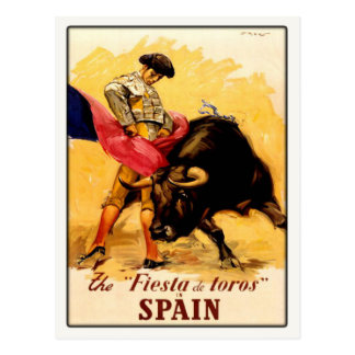 Postcard with Spanish Bullfight Poster