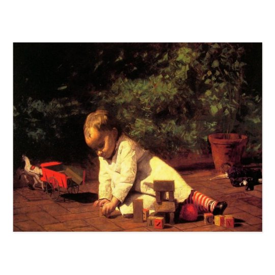 Postcard With Thomas Eakins Painting