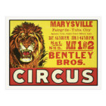 Postcard with Vintage Circus Poster