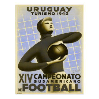 Postcard with Vintage Copa de America Soccer Print
