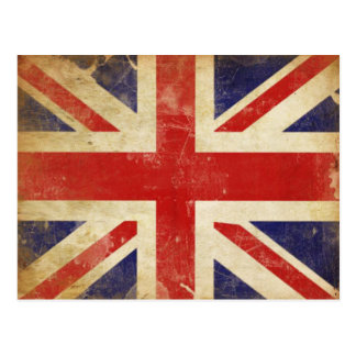 Postcard with Vintage Great Britain Flag