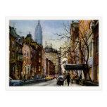 Postcard with Vintage New York Autumn Motive