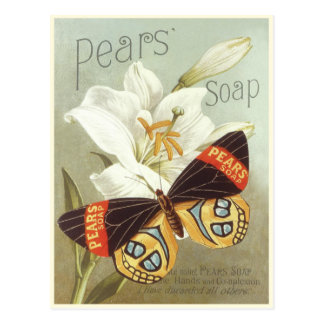 Postcard with Vintage Pears Soap Print