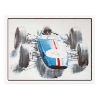 Postcard With Vintage Racing Car