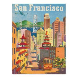 Postcard with Vintage San Francisco Poster