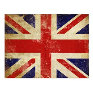 Postcard with Vintage United Kingdom Flag