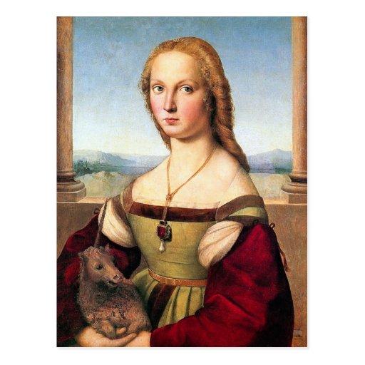 Postcard: Woman with the Unicorn