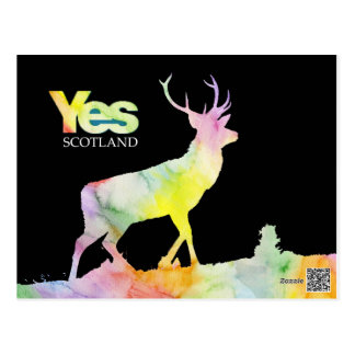 "POSTCARD ""YES SCOTLAND"