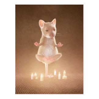 "Postcard: ""Yoga Mouse"" Postcard"