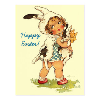Postcards Easter Greetings PC Cute Vintage Style