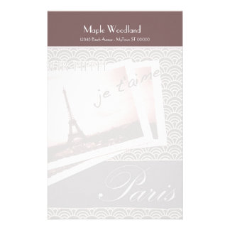 Postcards from Paris Personalized Paper Personalized Stationery