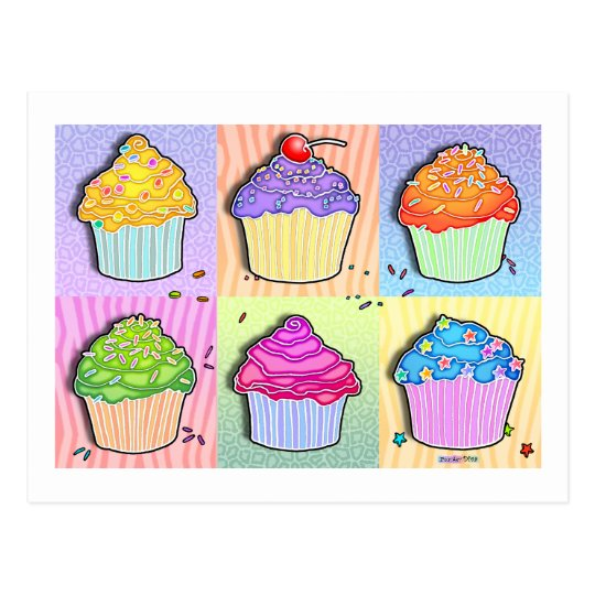 Postcards - Pop Art Cupcakes