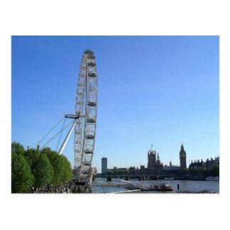 Postcardwith London Eye Ferris Wheel Post Card