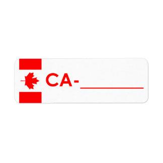 "Postcrossing ID Label Canada ""Flag Style"""