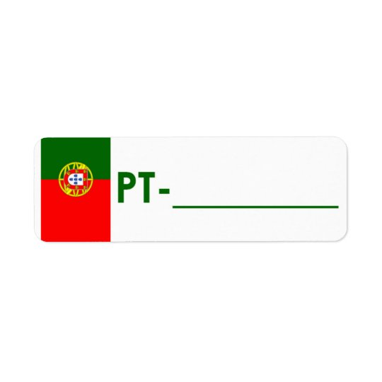 "Postcrossing ID Label Portugal ""Flag Style"""