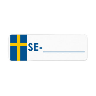 "Postcrossing ID Label Sweden ""Flag Style"" Return Address Label"