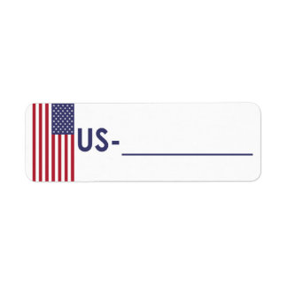 """Postcrossing ID Label USA """"Flag Style"""""""