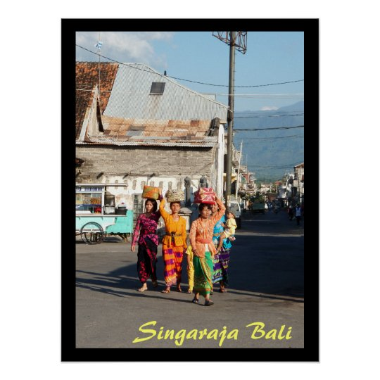 "Poster 1 (24"" x 18"")  Singaraja Bali Indonesia"