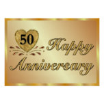 Poster - 50th Anniversary - Gold Poster