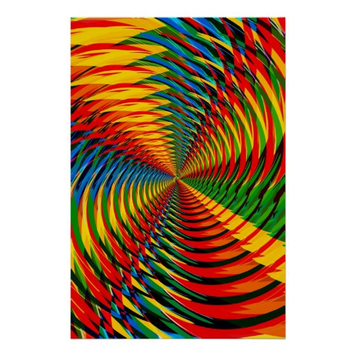 Poster: Abstract / Psychedelic Radial Pattern