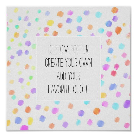 poster add your quote watercolor custom square