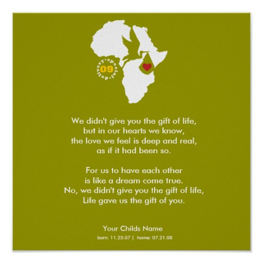 Poster - Adoption Poem - Gift of You
