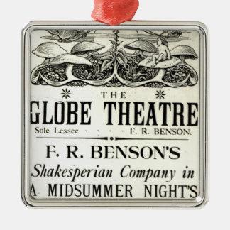 Poster advertising 'A Midsummer Night's Dream' Christmas Ornament