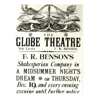 Poster advertising 'A Midsummer Night's Dream' Postcard