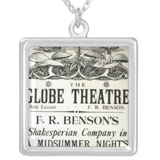 Poster advertising 'A Midsummer Night's Dream' Silver Plated Necklace