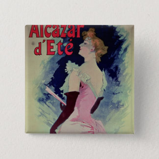 "Poster advertising ""Alcazar d'Ete"" 15 Cm Square Badge"