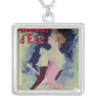 "Poster advertising ""Alcazar d'Ete"" Silver Plated Necklace"