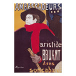 Poster advertising Aristide Bruant