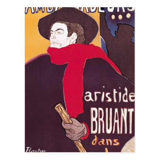 Poster advertising Aristide Bruant Postcard