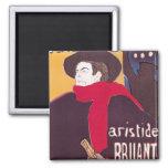 Poster advertising Aristide Bruant Square Magnet