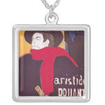 Poster advertising Aristide Bruant Square Pendant Necklace