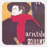 Poster advertising Aristide Bruant Square Sticker