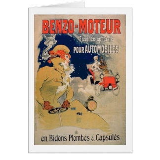 Poster advertising 'Benzo-Moteur' Motor Oil Especi Greeting Card