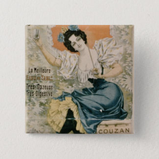 Poster advertising 'Brault Natural Mineral Water f 15 Cm Square Badge