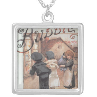 Poster advertising 'Bubbles' magazine Silver Plated Necklace