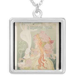 Poster advertising Cacao Van Houten Belgium Silver Plated Necklace