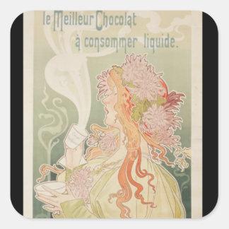 Poster advertising Cacao Van Houten Belgium Square Sticker