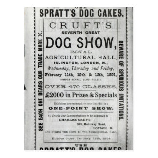 Poster advertising Cruft s Dog Show Post Cards