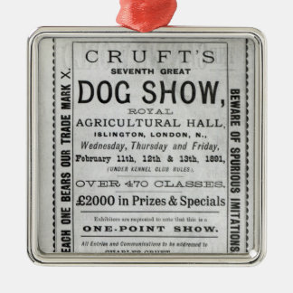 Poster advertising Cruft's Dog Show Christmas Ornament