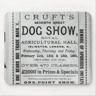 Poster advertising Cruft's Dog Show Mouse Mat
