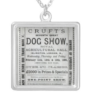 Poster advertising Cruft's Dog Show Silver Plated Necklace