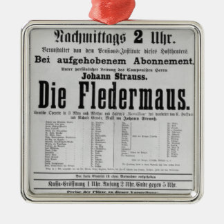 Poster advertising Die Fledermaus by Johann Christmas Ornament