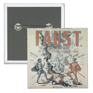 Poster advertising 'Faust' 15 Cm Square Badge