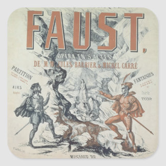 Poster advertising 'Faust' Square Sticker
